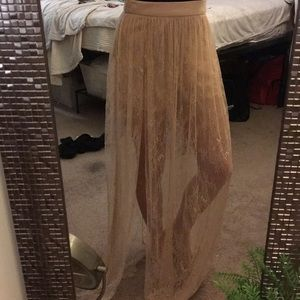 Nude contemporary Maxi Skirt Forever 21